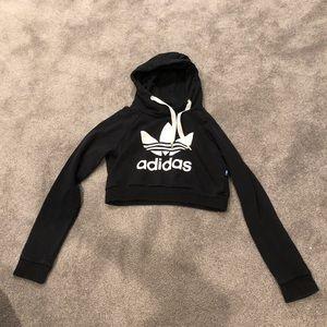 Black adidas crop sweatshirt